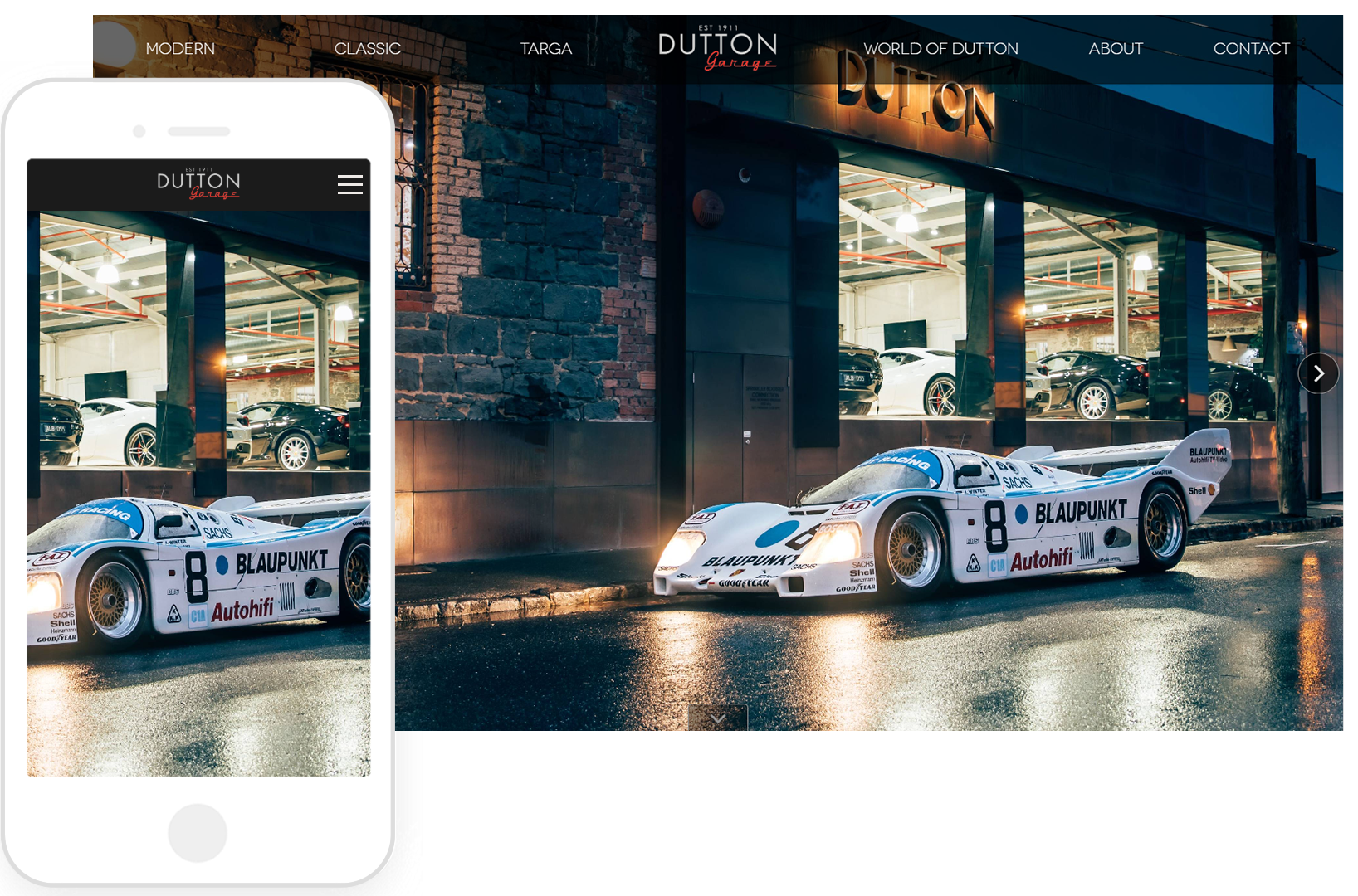 Dutton Garage Homepage image