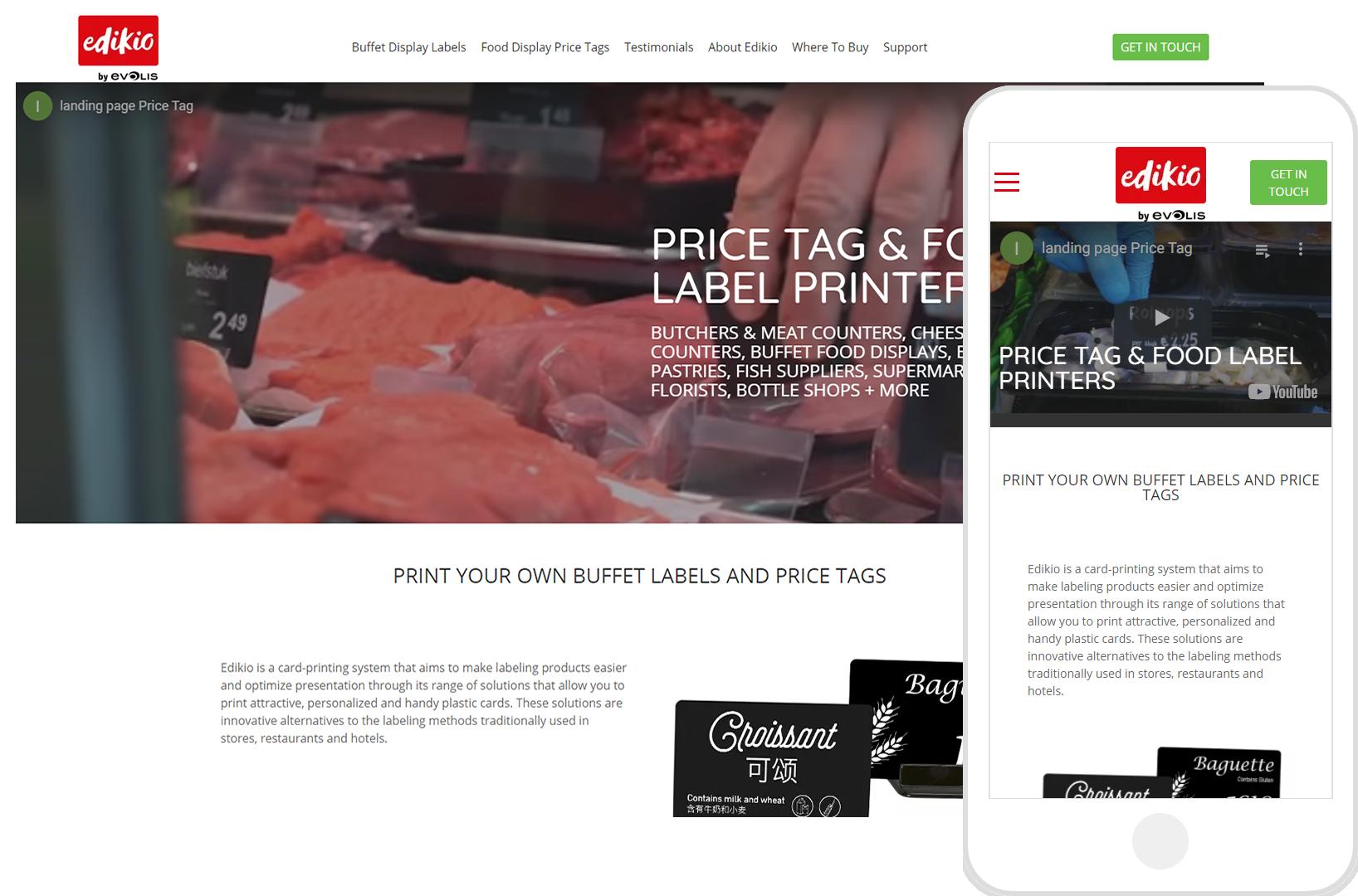 Edikio Food Tag Printer