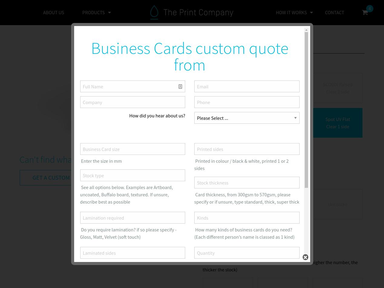 Print Enquiry Form