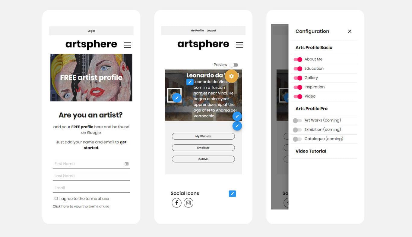 WebApp-artsphere-profile